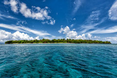 Siladen turquoise tropical paradise island Stock Image