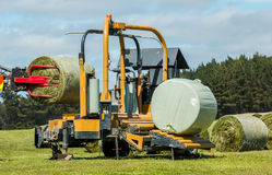 Silage Bales Wrapping Stock Images