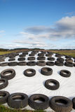 Silage storage. Stock Images