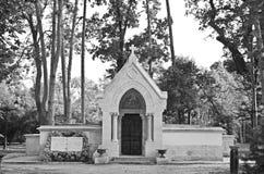 Silance lanscape cript śmierci cmentarniany pokój Obraz Royalty Free