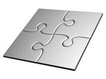 Silber festgeklemmte Puzzlespiele Stockbild