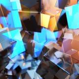 Silber- oder Weißgoldplatinblock-Würfelhintergrund Modellieren der Illustration 3d reiches Konzept bitcoin Bergbau des Reichtums lizenzfreie abbildung