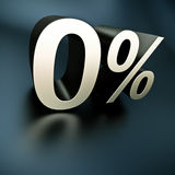 Silber 0 Prozent Stockbild
