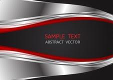 Silber-, Rote und Schwarzefarbe, abstrakter Vektorhintergrund mit Kopienraum für Geschäft, Grafikdesign vektor abbildung