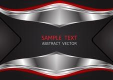 Silber-, Rote und Schwarzefarbe, geometrischer abstrakter Vektorhintergrund lizenzfreie abbildung