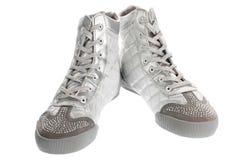Silber sports Fußbekleidung Stockbild