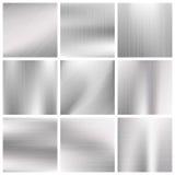 Silber, Stahl, Titan, Aluminiummetallvektor bürstete Beschaffenheiten vektor abbildung