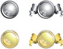 Silber-und Golddichtungen Lizenzfreie Stockbilder