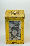 Silber- und Goldfarbe von malaysischen Münzen Lizenzfreie Stockbilder