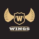 Silber Wings Zeichen Lizenzfreie Stockfotos