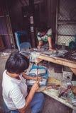 Silberarbeitskräfte Chaing MAI Lizenzfreie Stockfotos