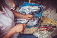 Silberarbeitskräfte Chaing MAI Lizenzfreie Stockbilder
