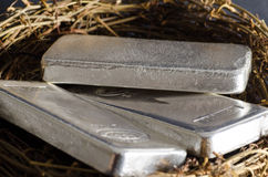 Silberbarren-Notgroschen Lizenzfreie Stockbilder