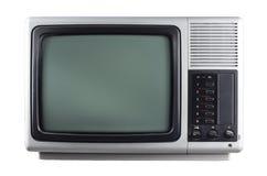Silberfernsehapparat Stockfoto