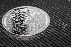 Silbermünze cryptocurrency Iota MIOTA lizenzfreies stockfoto