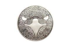 Silbermünze mit Adler Lizenzfreie Stockfotos