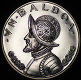 Silbermünze Panamas (Gegenstücck) Stockfotografie