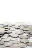 Silbermünzen lizenzfreie stockfotografie