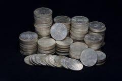 Silbermünzen Stockfotografie