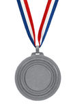 Silbermedaille Stockbild