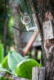Silberne Überwachungskamera Stockfotos