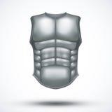Silberne alte GladiatorSchutzkleidung Stockfotos