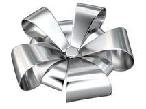 Silberne Banddekoration, 3D Lizenzfreie Stockbilder