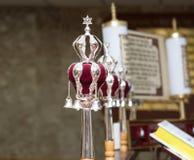 silberne Bell jüdisch in der Synagoge lizenzfreie stockbilder