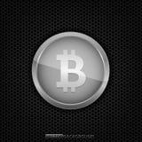 Silberne Bitcoin-Münze Lizenzfreie Stockfotografie
