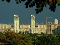 Silberne Brise. Kiew Stockfoto