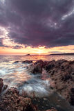 Silberne Bucht, Devon stockbild