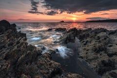 Silberne Bucht, Devon lizenzfreies stockfoto