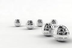 Silberne Chromkugeln Lizenzfreies Stockbild