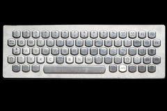 Silberne Computer-Tastatur Stockfotografie