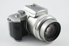 Silberne Digitalkamera Stockfotografie