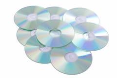 Silberne Digitalschallplatten Stockfotos