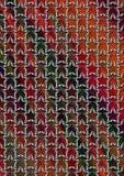 Silberne Doppelsterne in gestreiftem Hintergrund des bunten Halbtons Stockfotografie