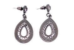 Silberne earings stockbild