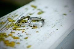 Silberne Eheringe Lizenzfreie Stockbilder