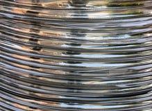 Silberne elektrische Leitung Stockfoto