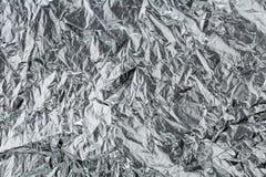 Silberne Folie Stockfoto