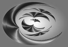 Silberne Formen lizenzfreie abbildung