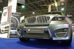 Silberne Frontseite BMW-X5 Stockbilder