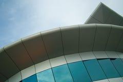 Silberne Gebäude-Front Lizenzfreies Stockfoto