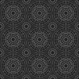 Silberne geometrische nahtlose Verzierung Vektor Lizenzfreie Stockfotografie