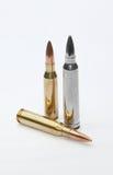 Silberne Gewehrkugel lizenzfreie stockfotos