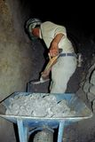 Silberne Gruben-Arbeitskraft stockbild