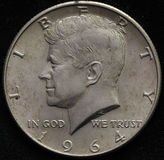 Silberne Halbdollarmünze Vereinigter Staaten 1964 Stockfoto