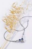 Silberne Halskette Stockfoto