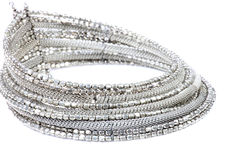 Silberne Halskette Lizenzfreies Stockbild